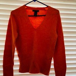 Vintage The Limited orange Vneck sweater